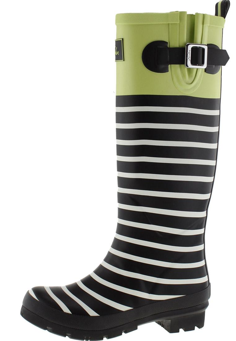 Joules WELLYPRINT LIME BLOCK Rubber Boots