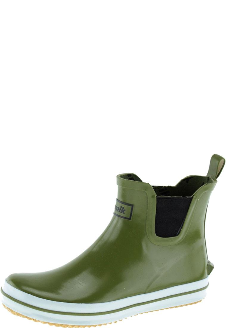 low olive fashionable ankle rubber boots by kamik