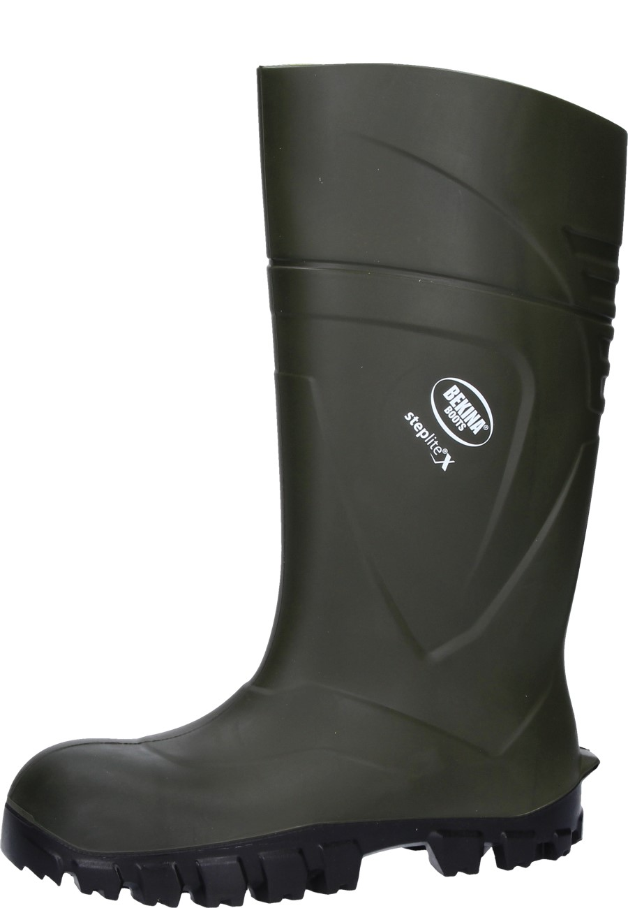 Bekina -Steplite X- Green Safety Wellington boots for Agriculture in modern  design