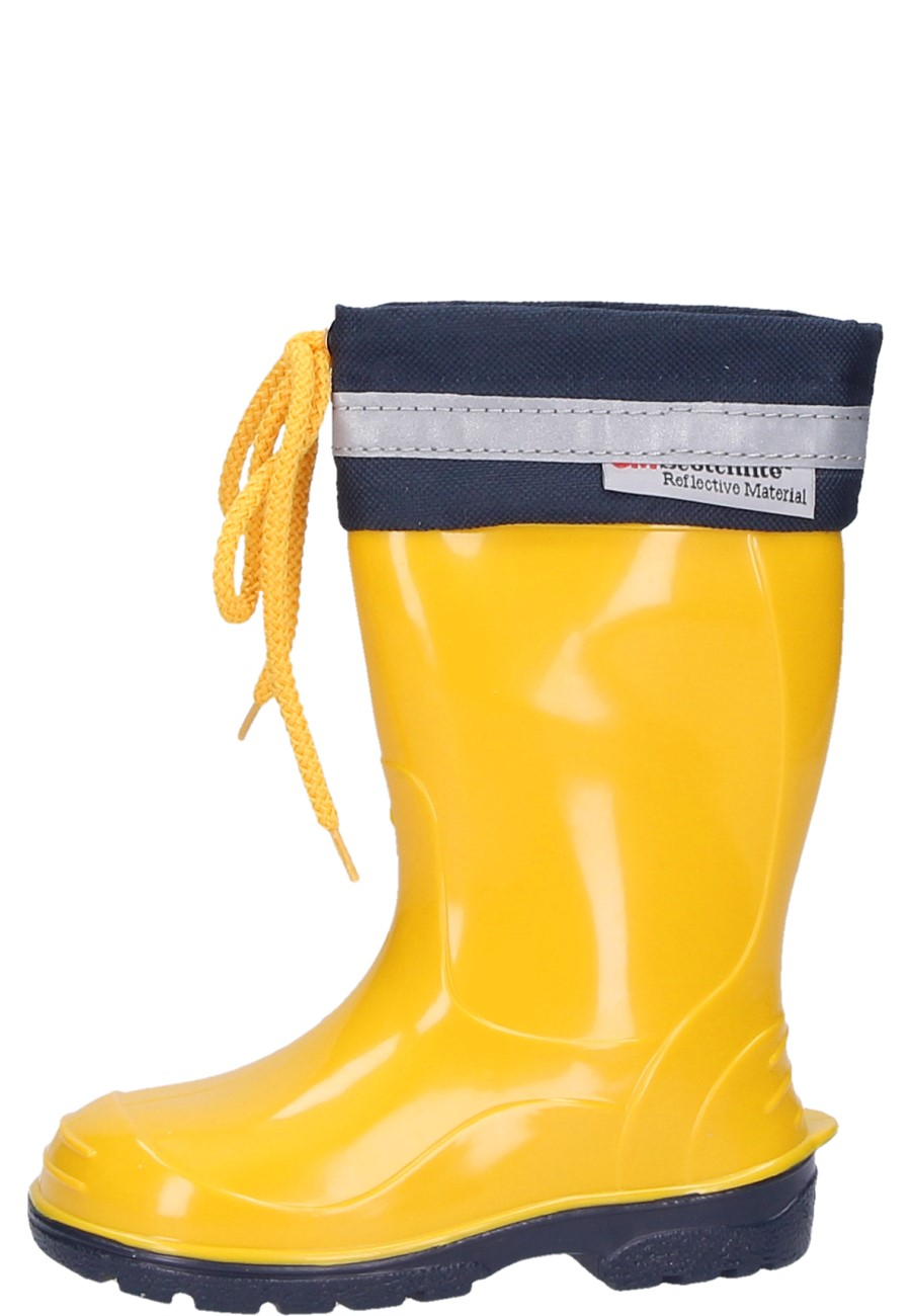 0b39c82c5 KIM Kids Wellies in yellow – boots for boys and girls with 3M Scotchlite  reflec