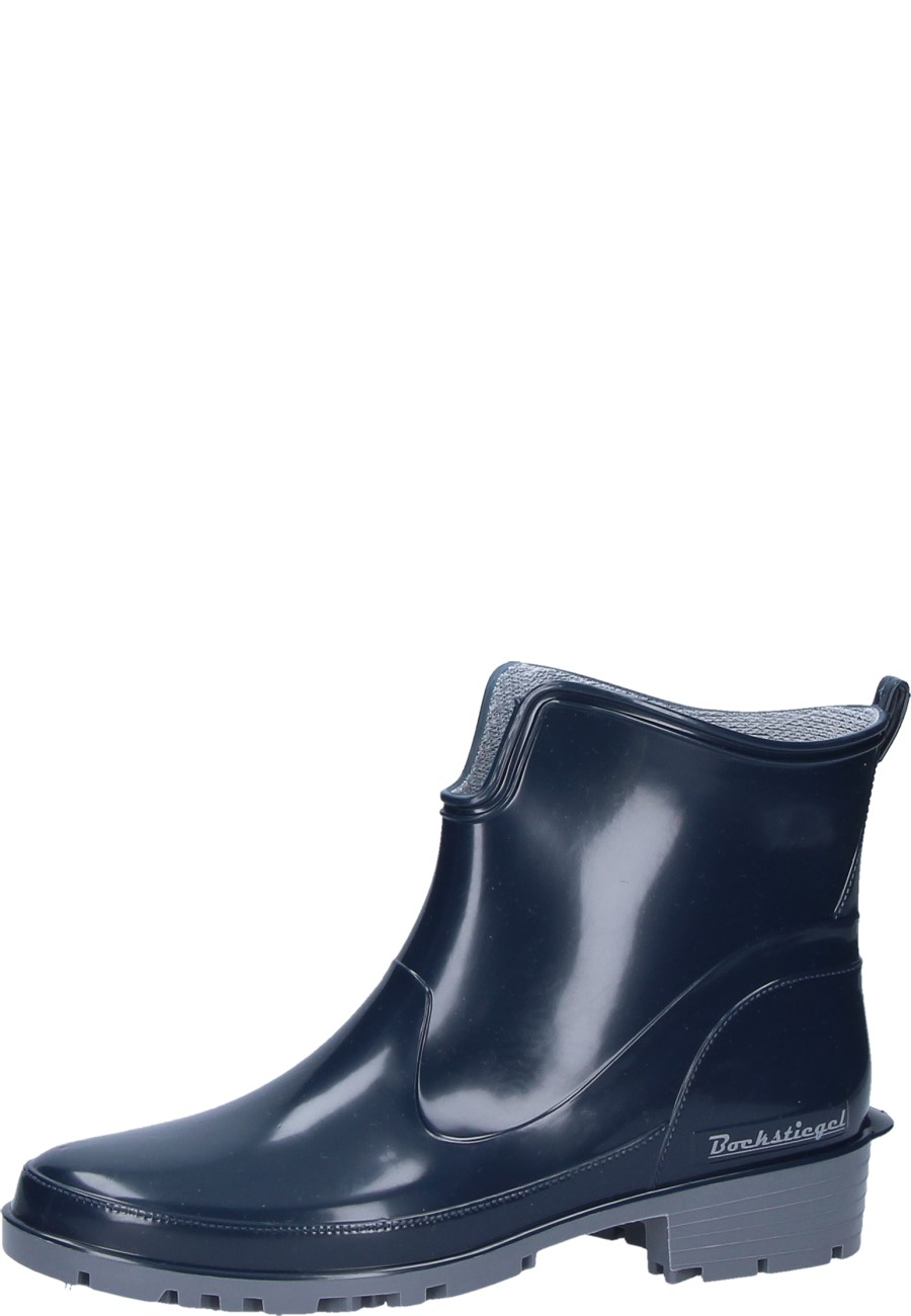 ELKE Women's Black Ankle Rain Boots