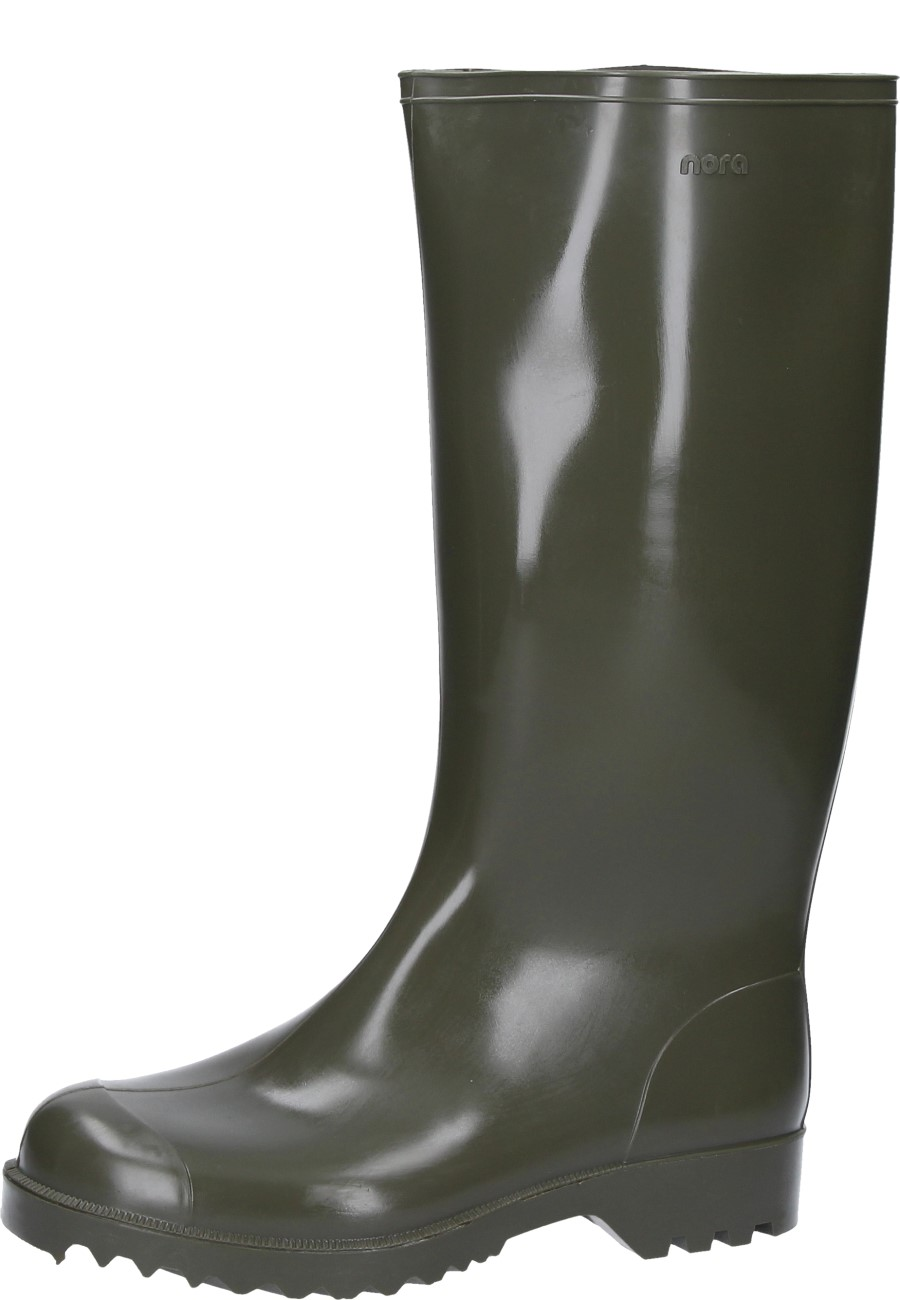 Nora Anton Green Unlined Work And Leisure Wellington Boots