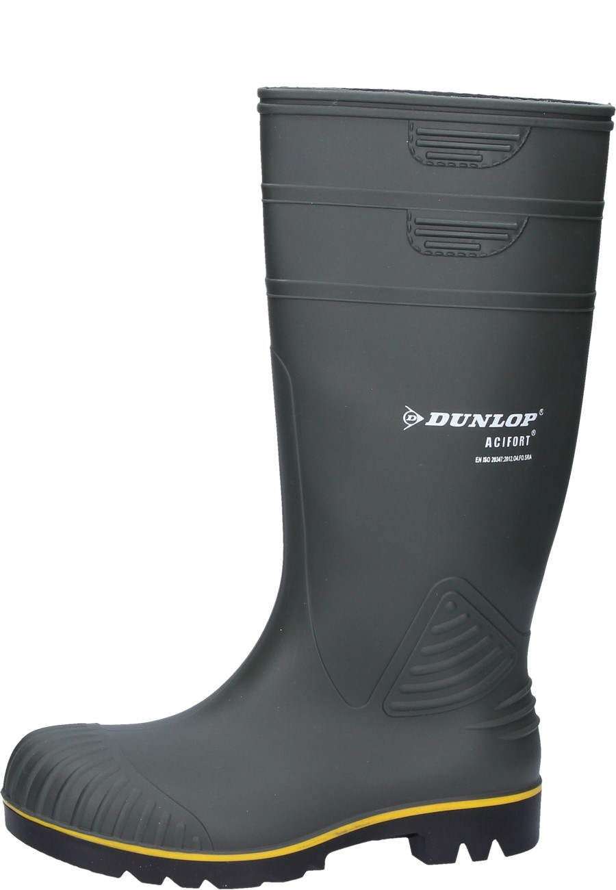 Dunlop Acifort Non Safety Rubber Boots In Green