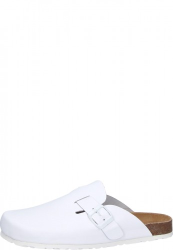 Bioped Clog White 441 Leisure Clog With Cork Footbed And