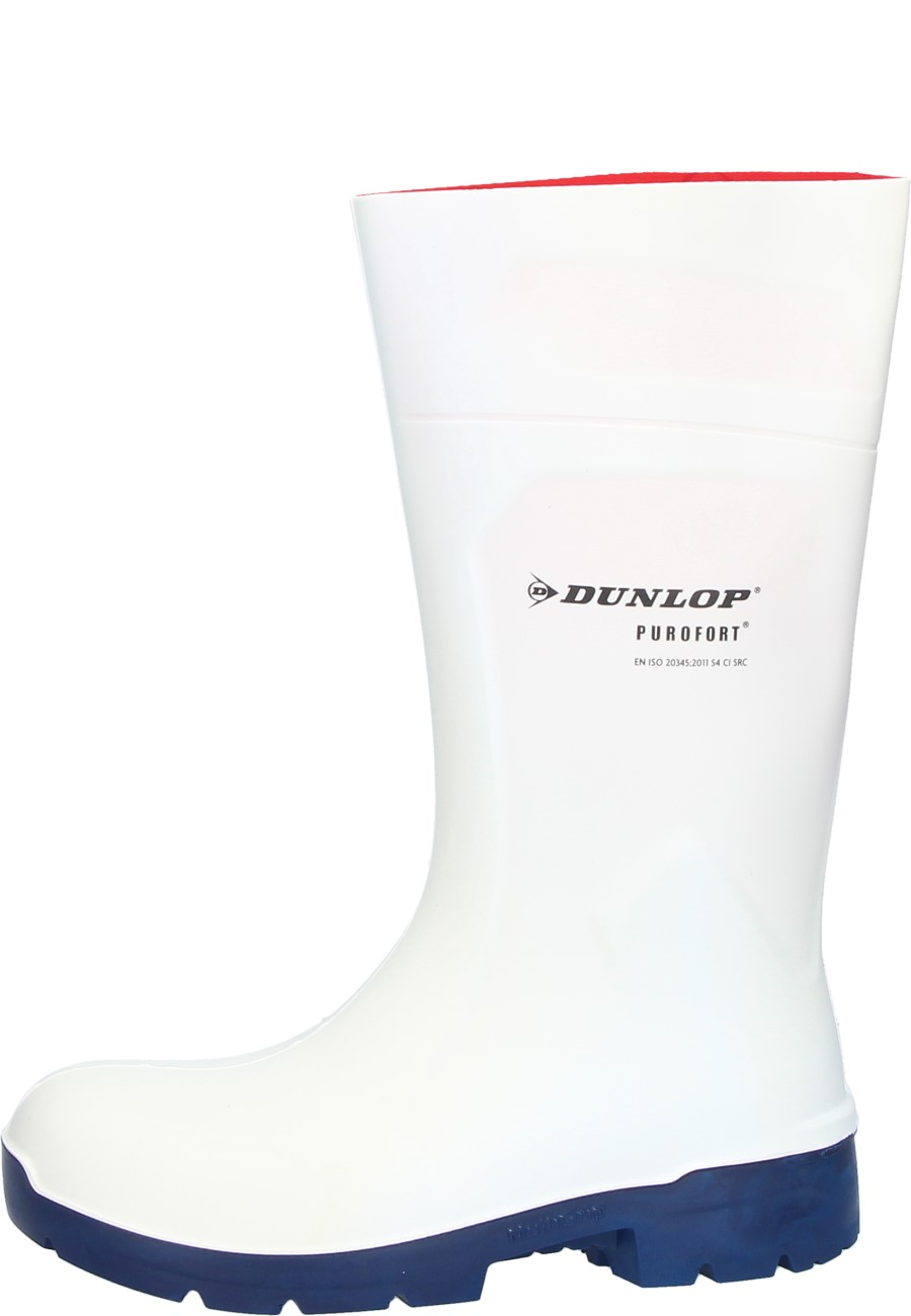 418cd739b5d Dunlop PUROFORT Multi Grip Safety white Wellington boots