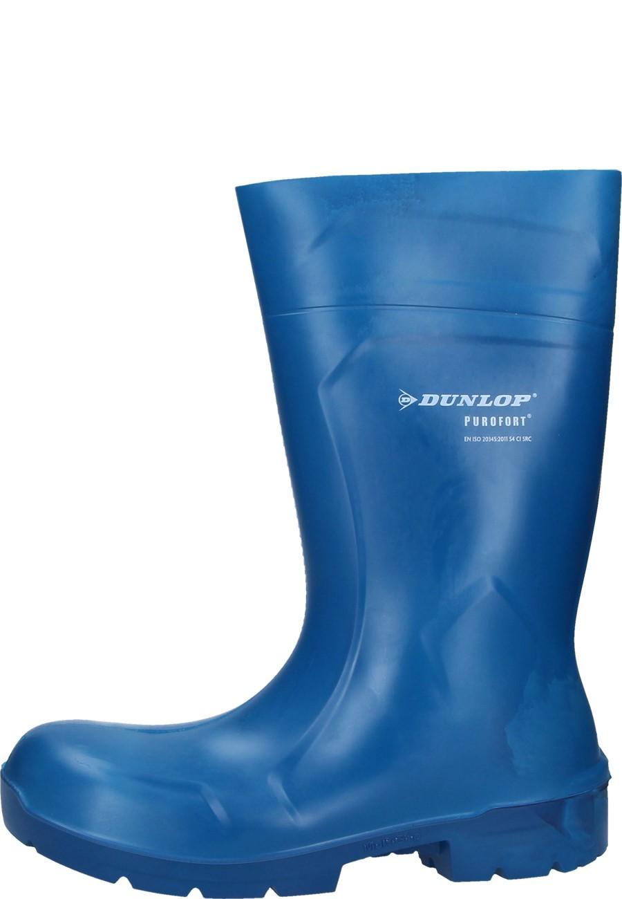 96bf20369e2 Dunlop PUROFORT Multi Grip Safety blue Wellington boots