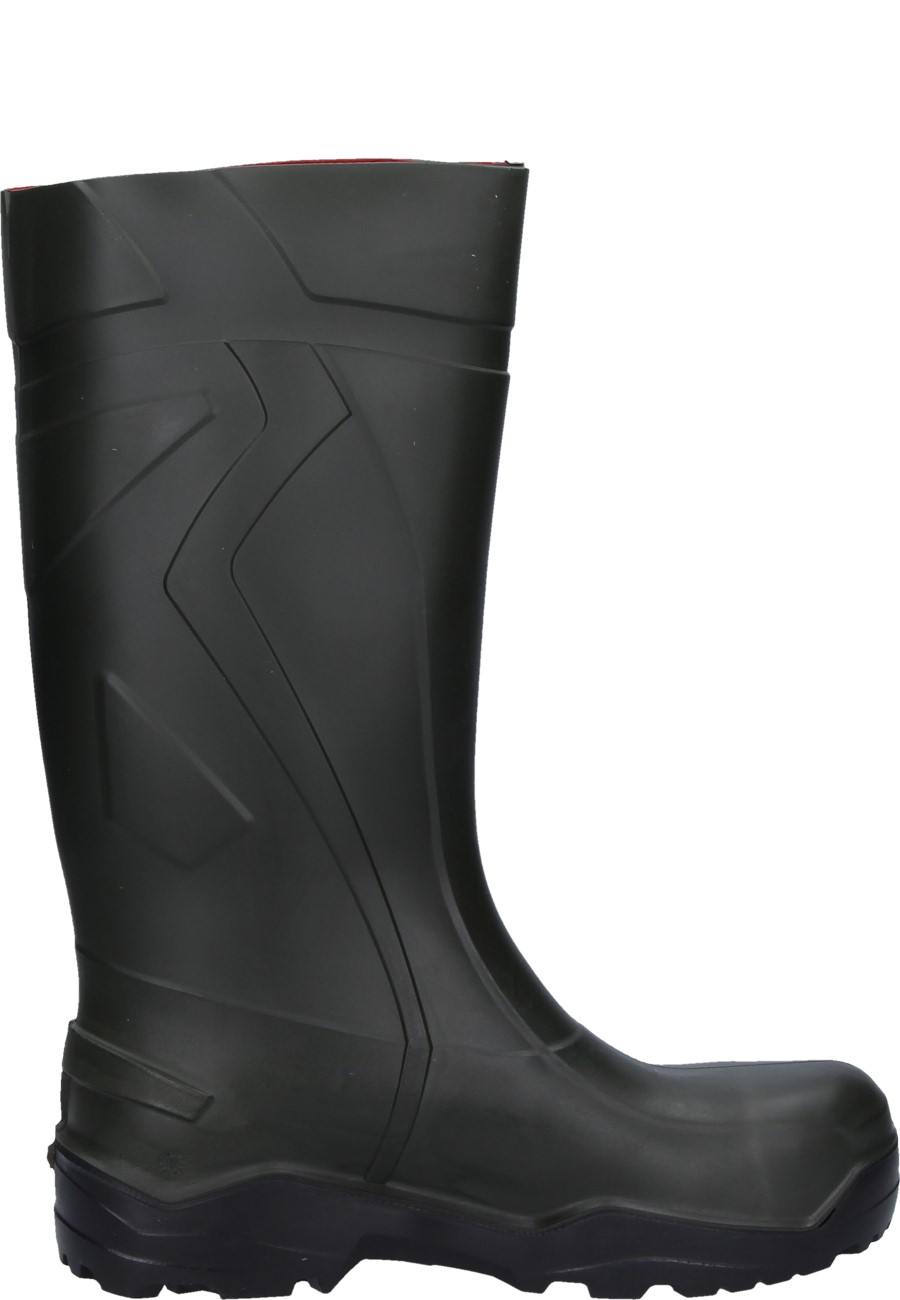Dunlop Purofort Full Safety Rubber Boots In Green
