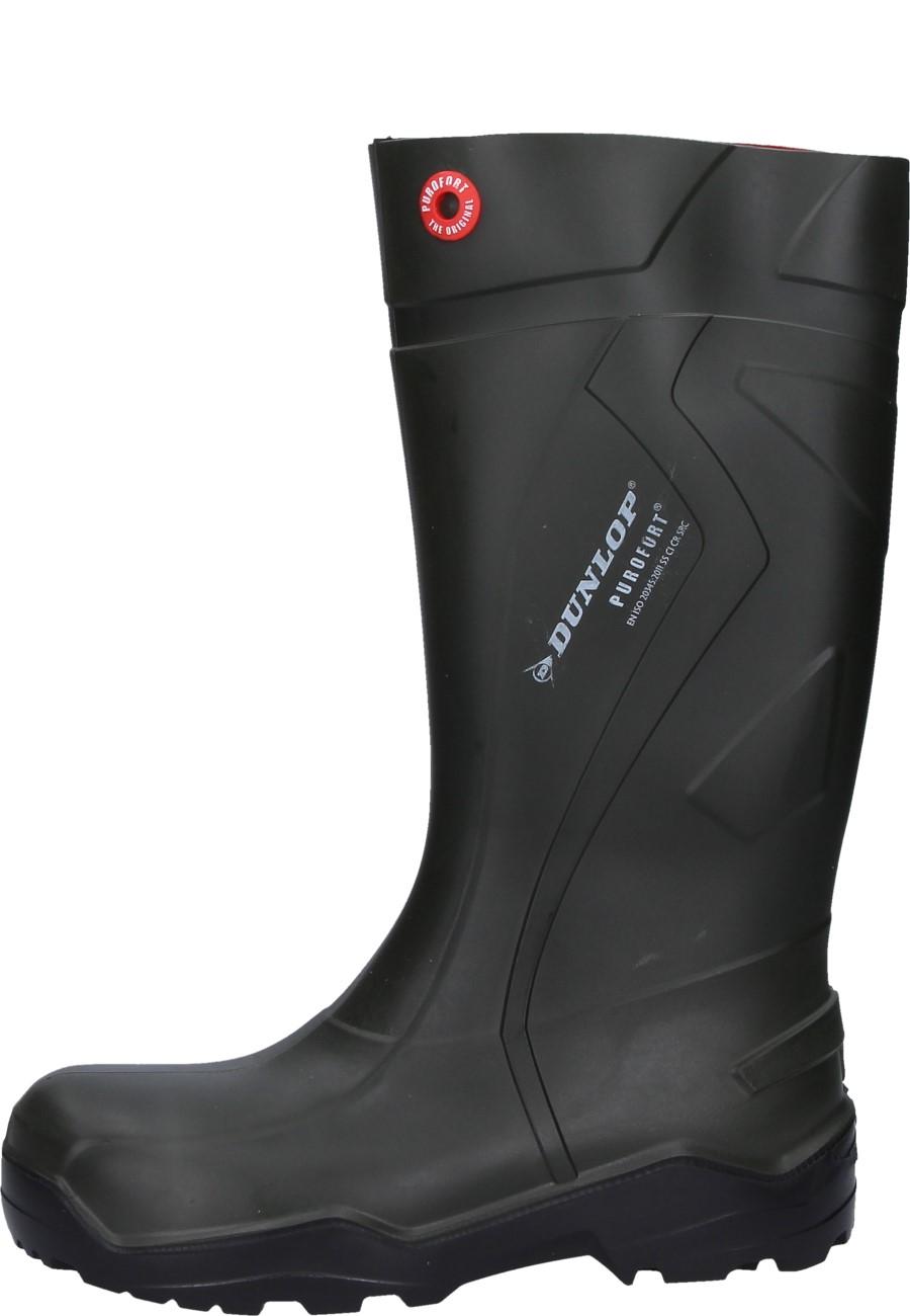 ac5c8f0230c Dunlop -Purofort+ Full Safety- Rubber Boots in green - steel toe cap &  midsole to EN20345:2011.S5.CI