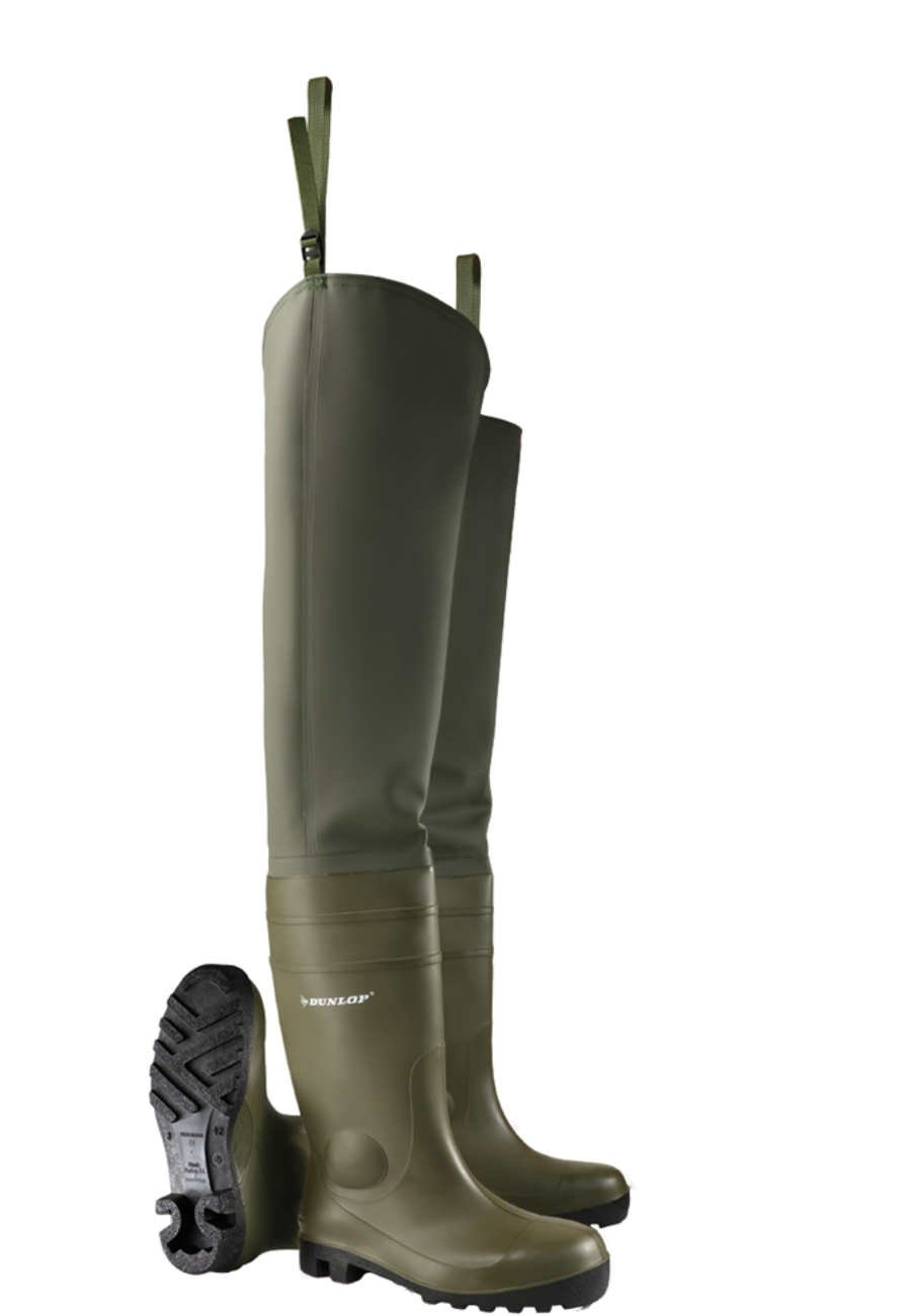 40ba153345c Dunlop Protomastor Waders - a Wellington boot with steel toe cap and  midsole to EN 345 S5
