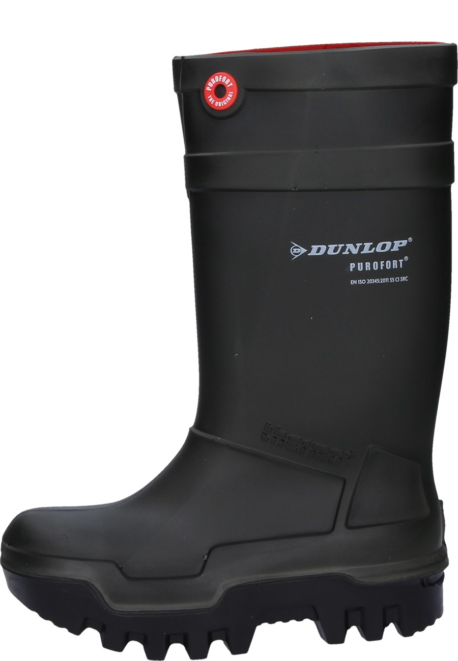 abb1bd7ebfe0 Dunlop -Purofort Thermo+ - green Wellington Boot with steel toe cap and  midsole S5