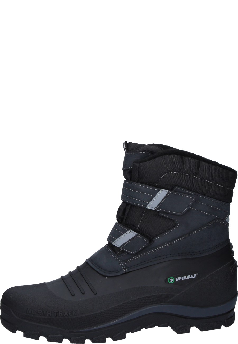 Spirale Velcro Boots In Black With Velcro Fastening