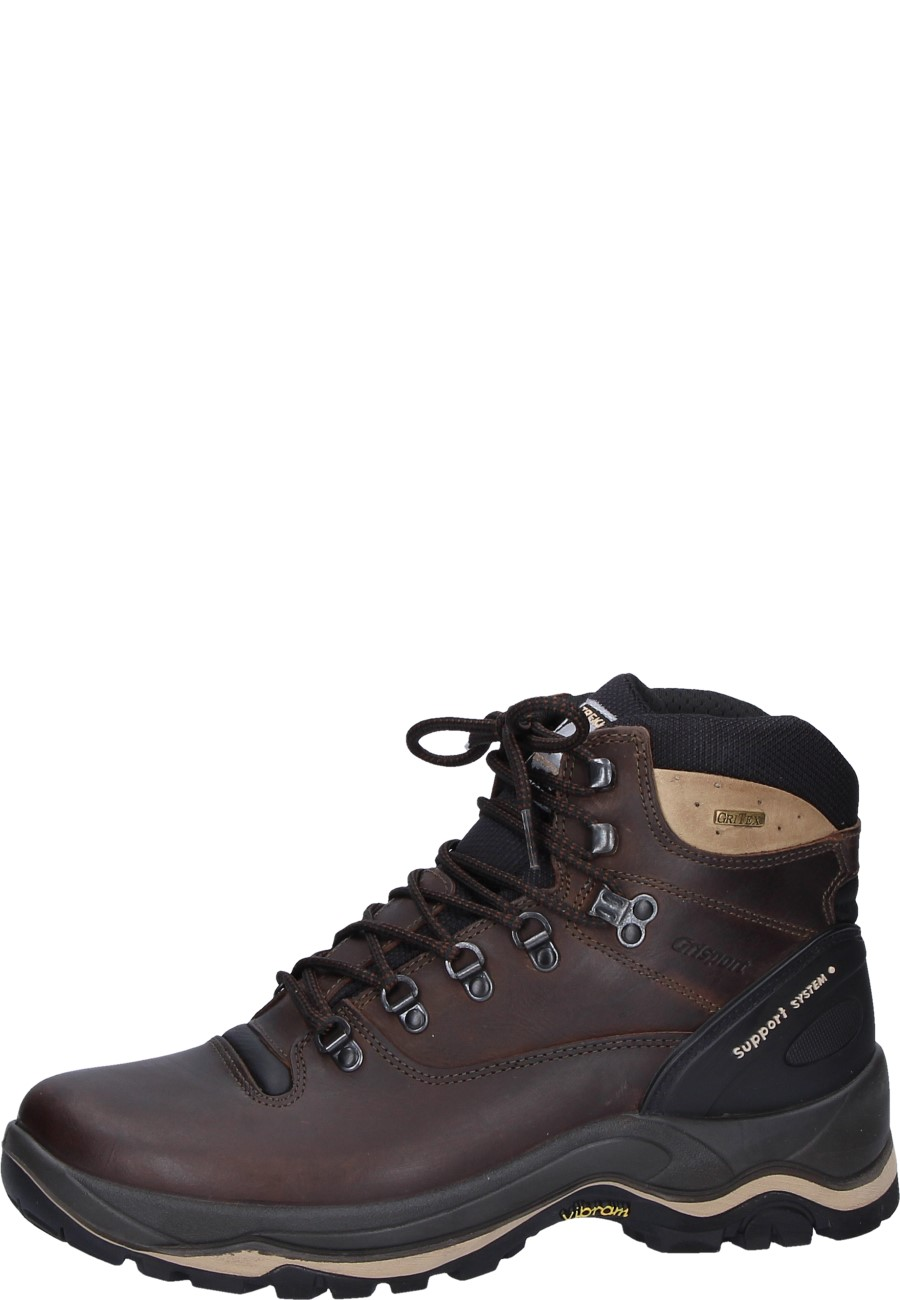 Grisport Brown Ankle High Oiled Leather Trekking Shoe With