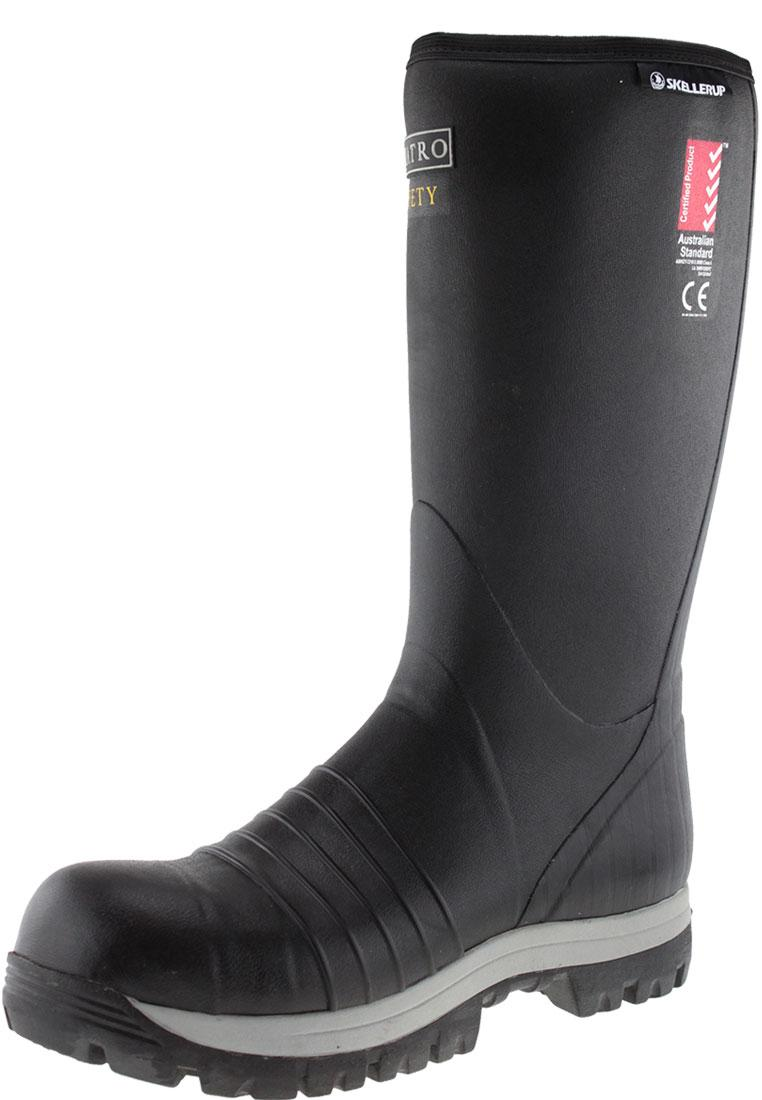 Quatro Safety Insulated Knee Wellington Boots By Skellerup