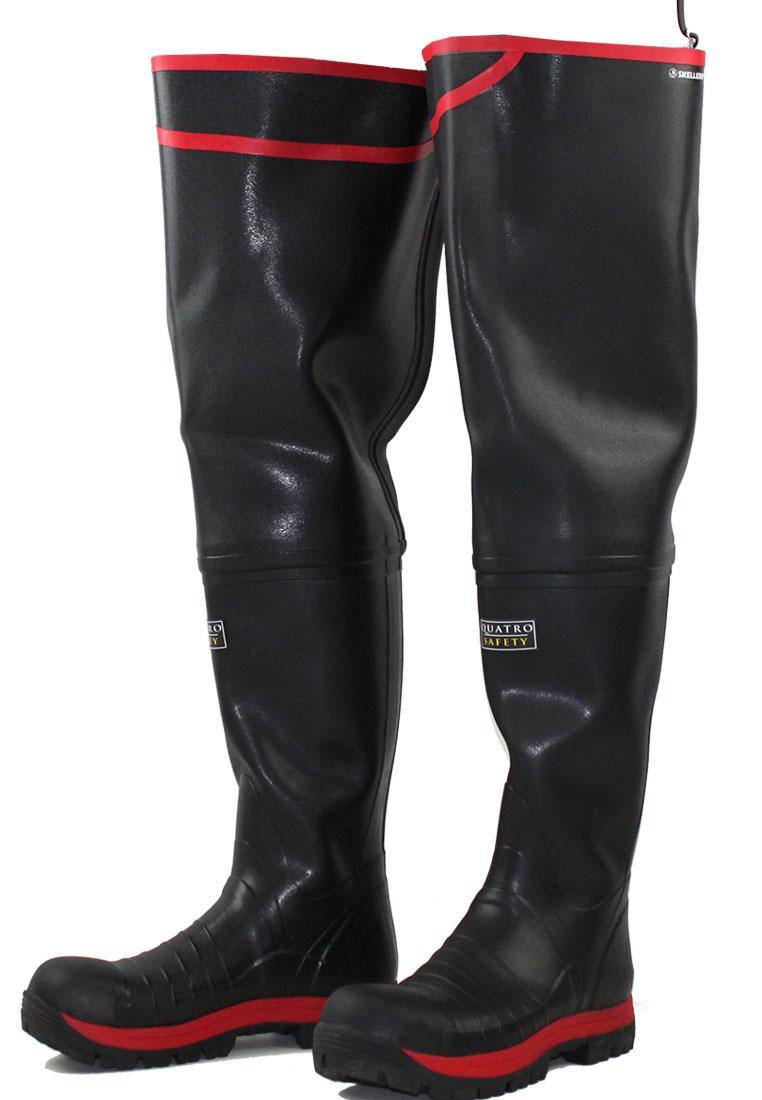 Quatro S5 Super Safety Thigh Wellington Boots By Skellerup