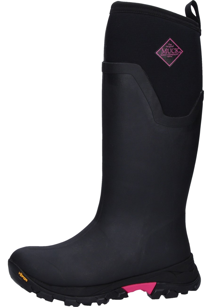 fce02e9cb5611 Arctic Ice Tall Lady black/rose Wellington boots by Muckboots