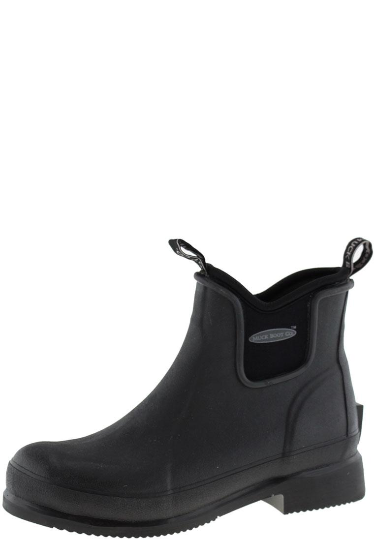 Wear black Ankle Rubber Boots by The Muck Boot Company
