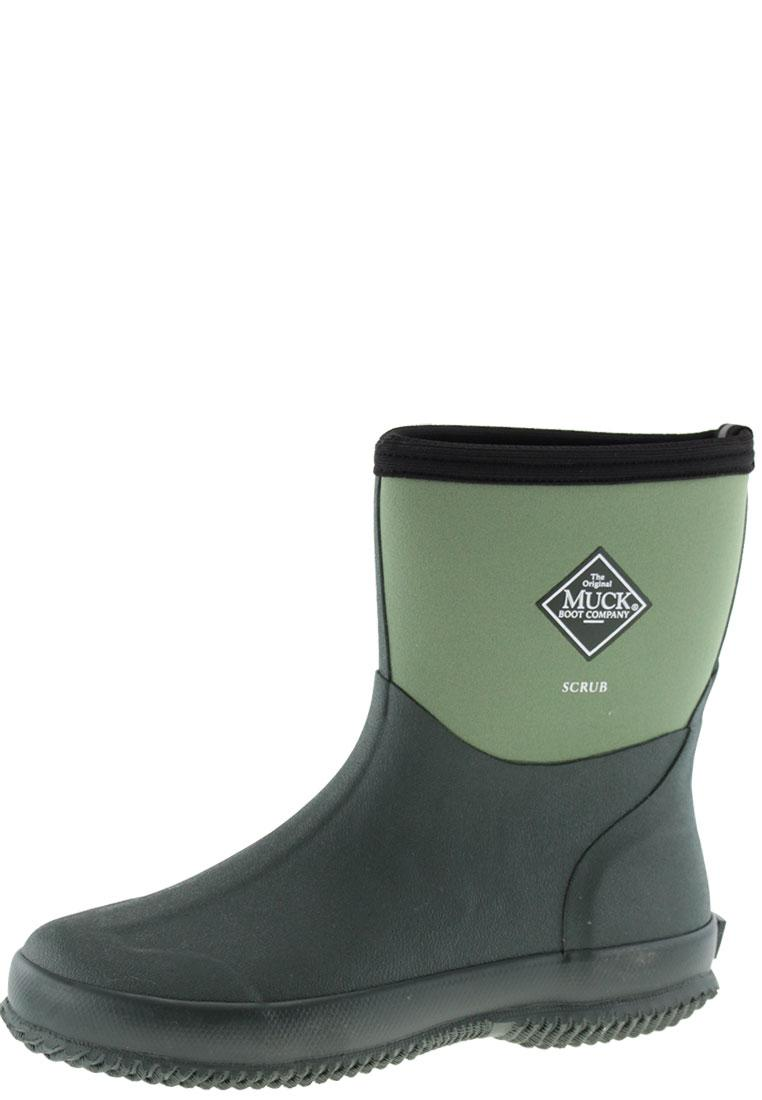 scrub moss ankle rubber boots by the muck boot company