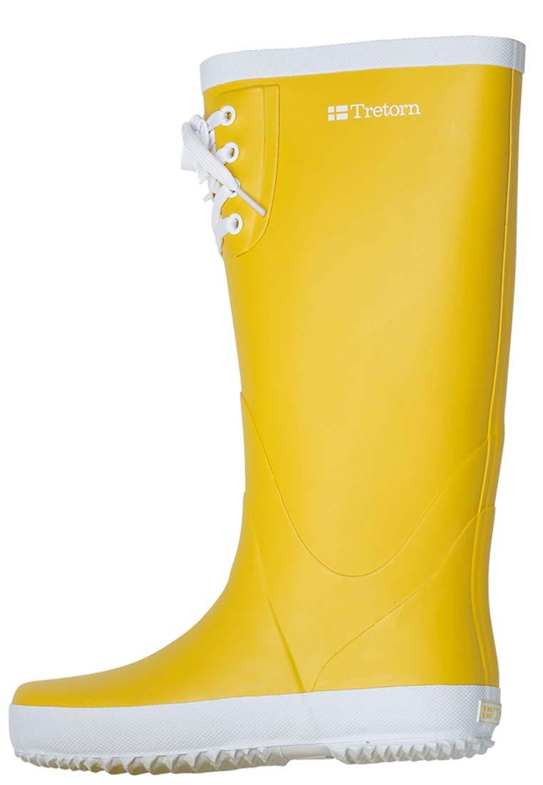 Tretorn Blue Top Yellow Rubber Boots A Women S Sailing