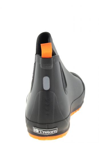 Bo Black Orange Ankle Rubber Boots For Men By Tretorn