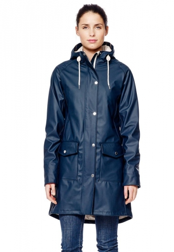 Erna Raincoat Navyblue Women S Rain Jacket By Tretorn