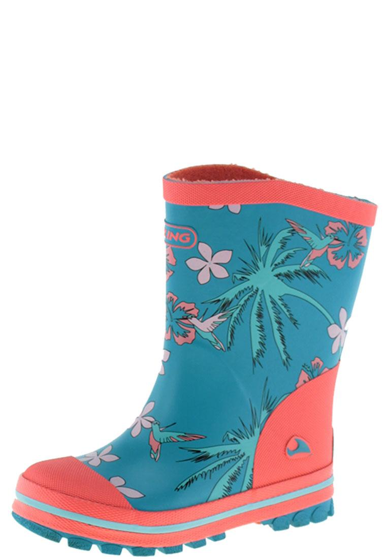 Flora Turquoise Wellington Boots By Viking