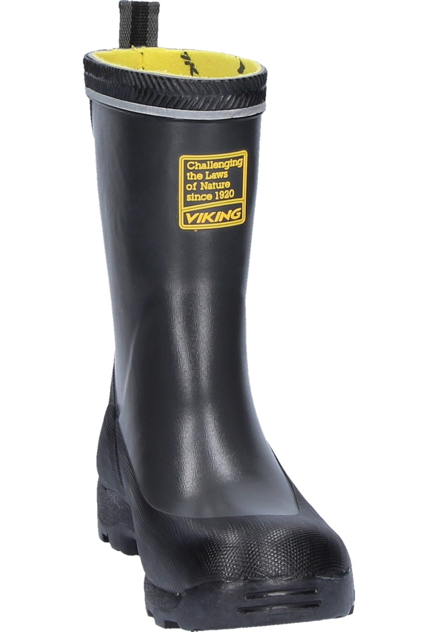 Viking Storm Jr Dark Grey Kids Rubber Boots Made From